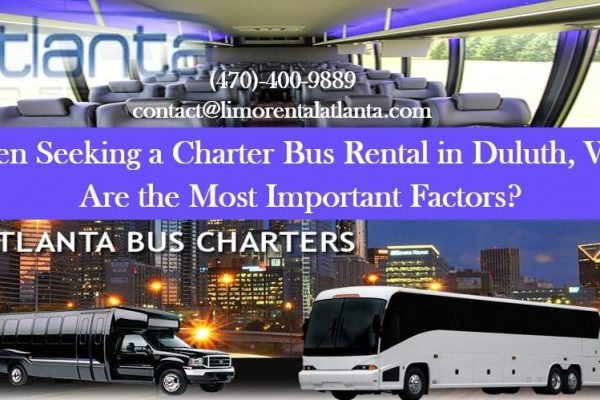 Charter Bus Rental in Duluth